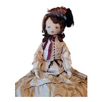 Large Vintage Cloth Doll Hand Painted Face