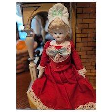 Antique  Bisque Bonnet Head Doll