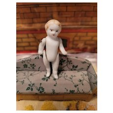 Antique Jointed Penny  Bisque  Doll