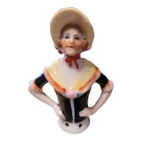 Antique Pin Cushion Doll with Black Blouse