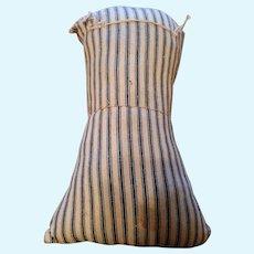 Antique Stripe Cloth Doll Torso
