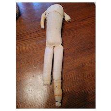 Antique Cloth Doll Body for Papier Mache Doll