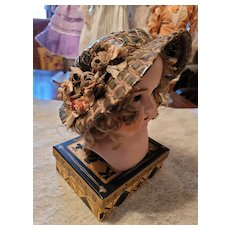 Antique Straw Doll Hat