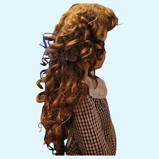 Large Antique Mohair Doll Wig