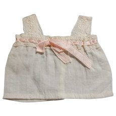 Antique Cotton Doll Camisole with Pink Ribbon