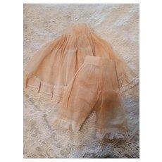 Vintage Organdy Slip and Pantaloon Set