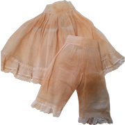 Vintage Organdy Slip and Pantaloon Set