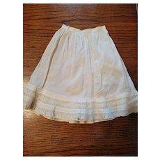 Antique Cream Cotton Doll Slip Lace Inserts