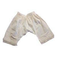 Antique White Cotton Doll Pantaloons Lace Edge