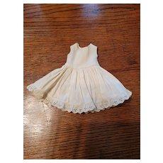 Vintage Cream Cotton Doll Slip Factory Made
