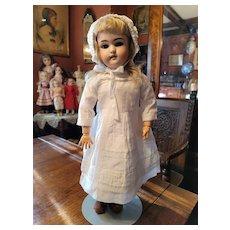 Vintage white Cotton Dress and Bonnet