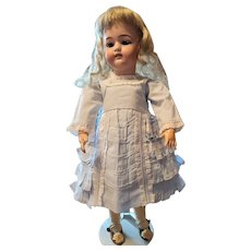 Vintage Light Blue Cotton Doll Dress