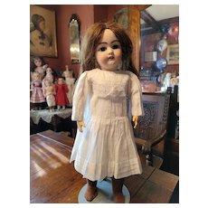 Vintage White Cotton doll Dress with Full Skirt