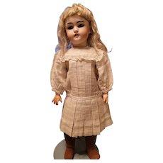 Vintage Cream Linen Doll Dress