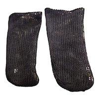 Antique Black Cotton Doll Stockings