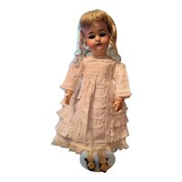Vintage White Cotton Ruffled Doll Dress