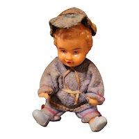 Antique Celluloid Baby Boy Original Clothes