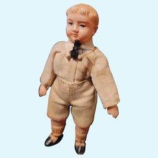 Antique Celluloid Boy All Original Clothes