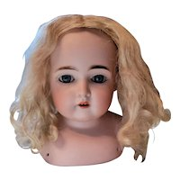 Antique Blonde Mohair Doll Wig