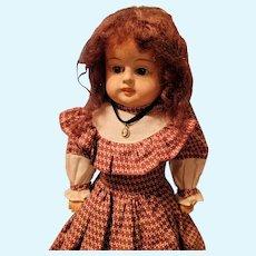 Antique Papier Mache Doll Original Body