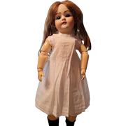Vintage White Cotton Doll Slip with Lace