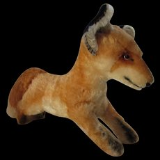 "Sweet Steiff Xorry Desert Fox Mohair Fur Large Size 18"" Untagged"