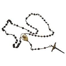 Lovely Rosary Smoky Iridescent Beads Mary Glory Be Corpus on Crucifix