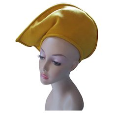 Fantastic Peaked Hat Mustard Yellow Twill Original Marie Organ