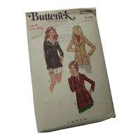 Butterick 6390 Jacket Fitted Blazer Size 8 1970 Style Uncut