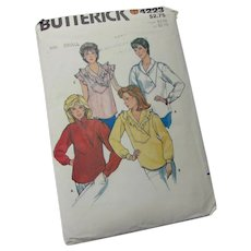 Butterick 4223 Loose Fitting Top with Shawl Collar Sz Small Uncut