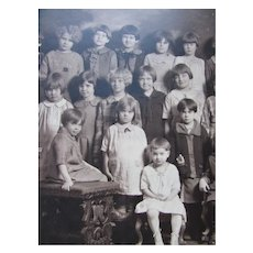 Photograph 1920 Era Young Girls School or Orphanage