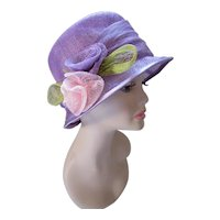 Lovely Lavender Cloche Printemps Springtime Church Derby Hat