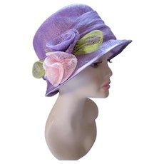 Lovely Lavender Cloche Printemps Springtime Church Derby Hat