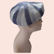 Beret Style Hat in Shades of Blue