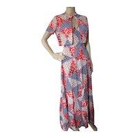 1970 Era Halter Maxi Dress & Bolero Patchwork Design by Denise Are Here