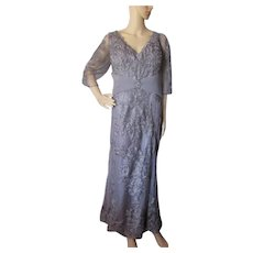 Beautiful Lavender Gray Mother of the Bride Dress in Chiffon and Lace  Montage Mon Cheri Size 20W