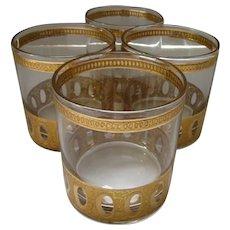 Culver Antigua Low Ball Glasses Set of Four