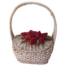 Wicker Purse with Strawberries Its In The Bag Ritter Japan