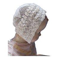 Infant or Large Doll Crochet Bonnet
