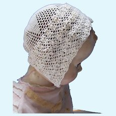 Infant or Large Doll Crochet Bonnet
