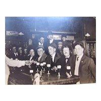 LAST CALL Photo Postcard Early Men's Bar Scene