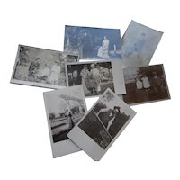 Early 20th Century Photo Postcards Garden Themes Grouping of 8