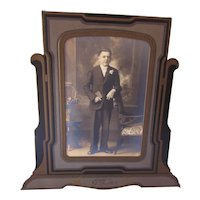 Deco Style Photo Mount Frame of Young Man Mendota Illinois