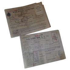 Pair WWII Ration Books 1942 1943