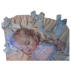 Sweet Framed Baby Paper Doll Collage Original Clothing