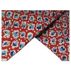 Trio Print Feed Sacks Red Blue White Flowers