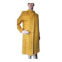 Mid Century Boucle Knit Coat & Dress in Mustard Domani Knits