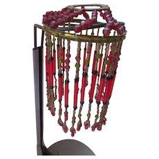 1920 Era Czechoslovakia Beaded Lamp Shade
