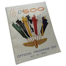 1958 Program 42nd Indianapolis 500 Auto Race Indianapolis Motor Speedway