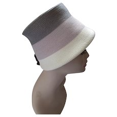 Mid Century Bucket Hat Cloche Style Gray, Lavender, Cream